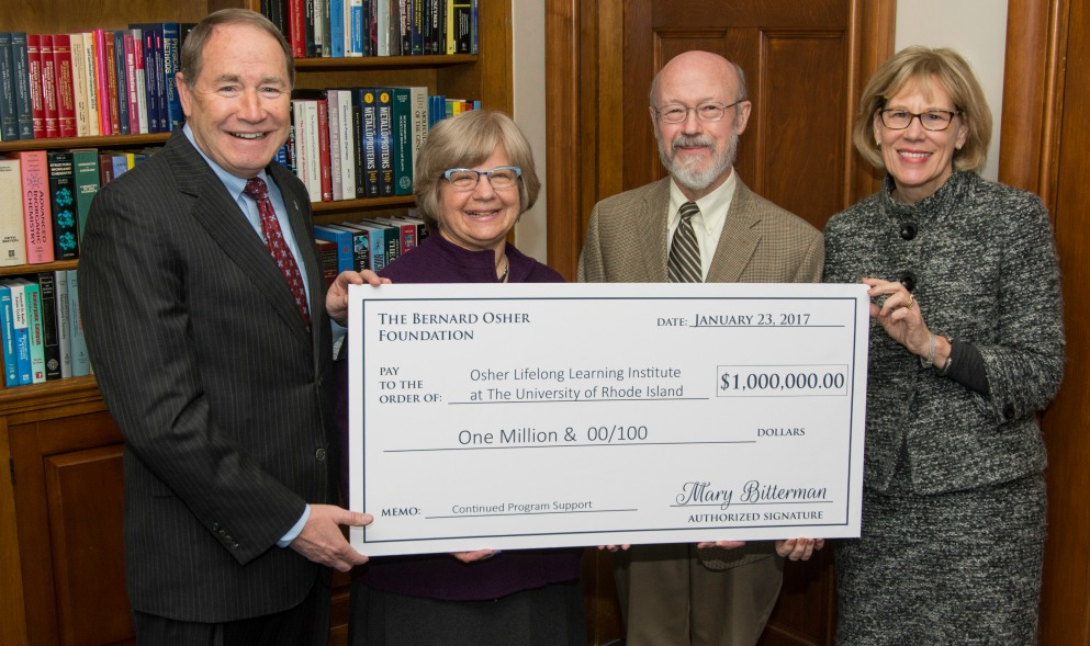 URI Receives $1M for Osher Lifelong Learning Institute